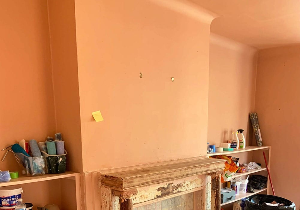 Interior Paint Stripping Before