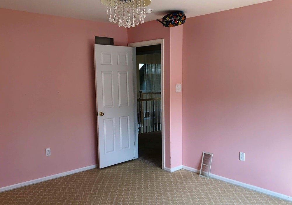Wall Stripe Painting Before