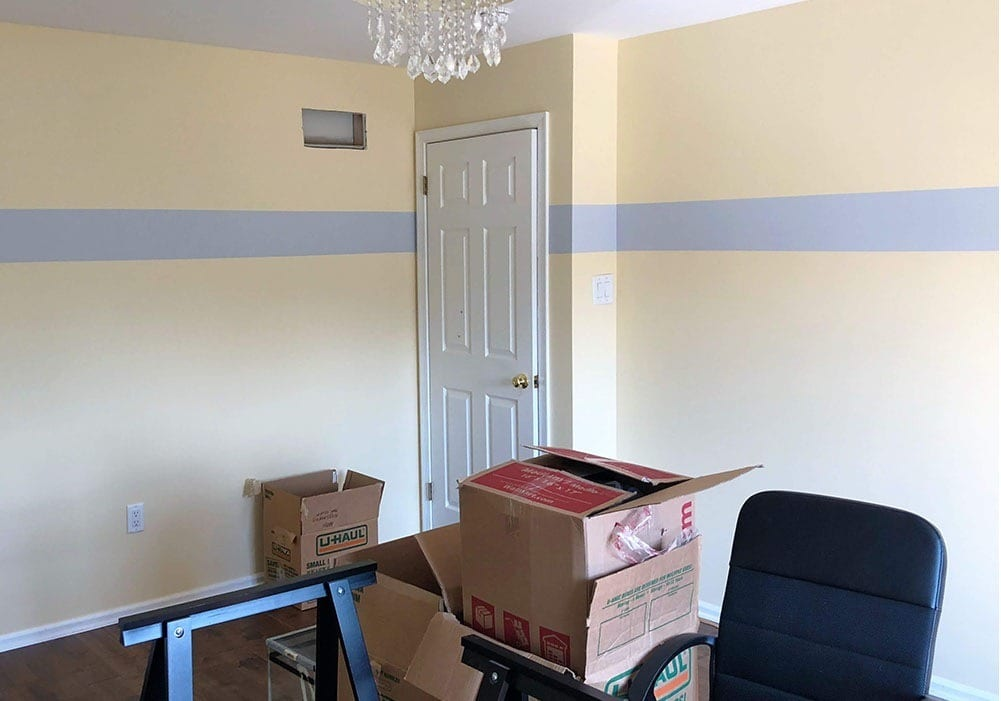 Wall Stripe Painting After