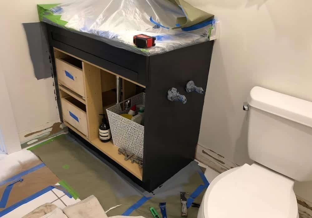 bathroom wainscoting installation