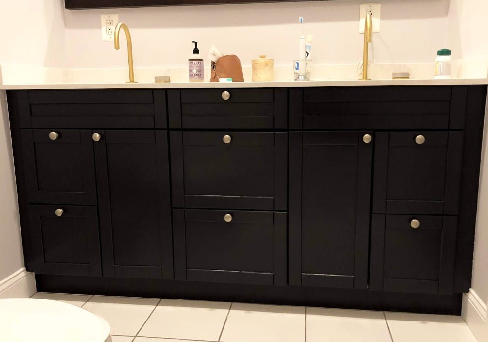 Vanity cabinet painting After