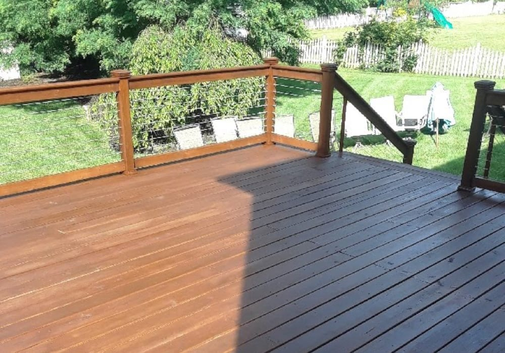 deck stain after