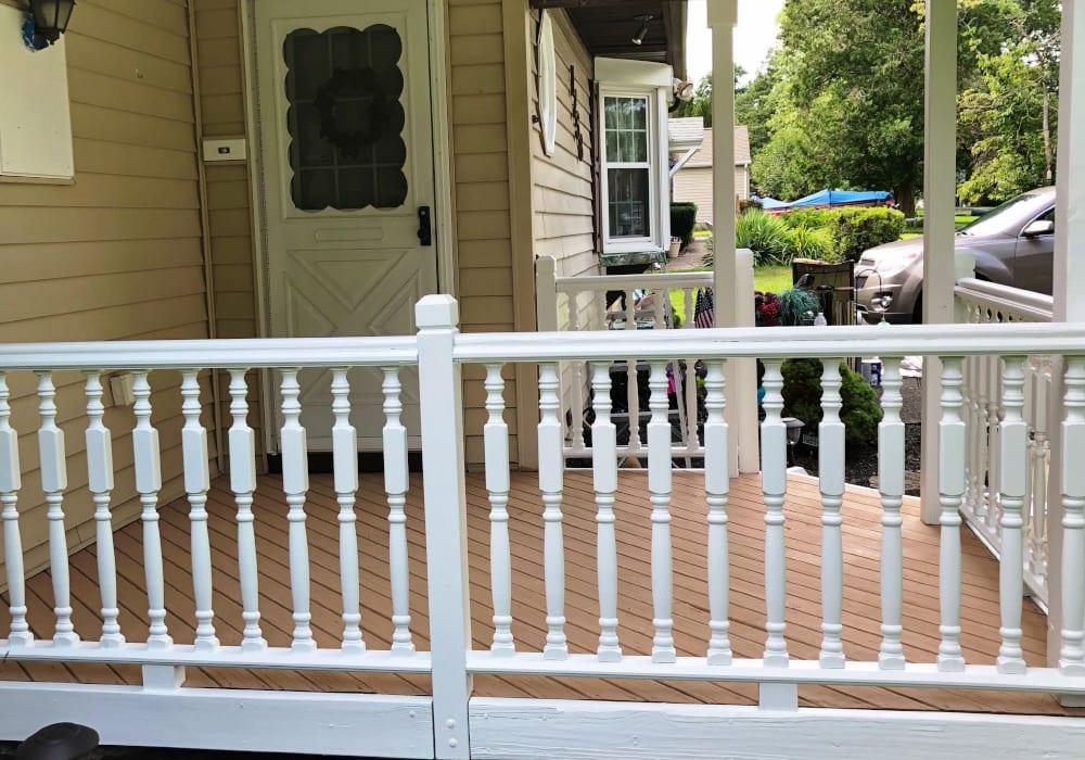 prep porch after