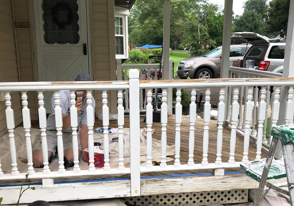 prep porch before