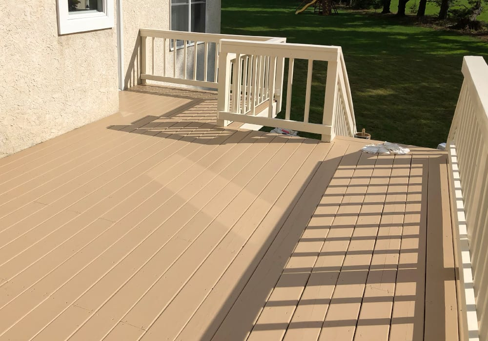 solid stain deck after