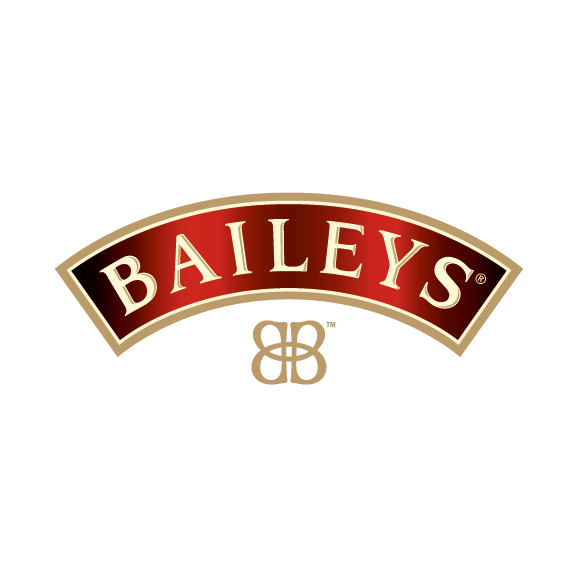Baileys Eyebrow CMYK_notag. White Double B & Here's To Us Strapline_Artboard 1
