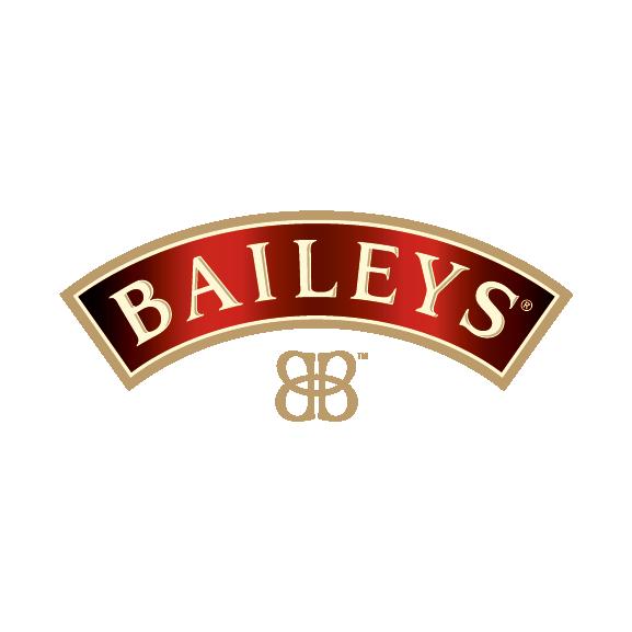 Baileys Eyebrow CMYK_notag. White Double B & Here's To Us Strapline_Artboard 1
