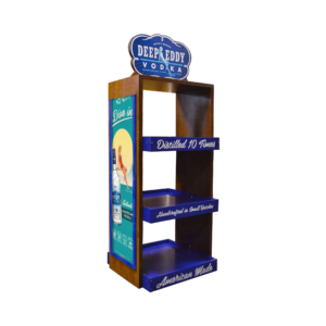 Deep Eddy Vodka_Wooden Display Rack