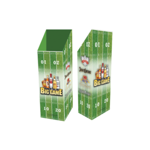 Diageo Spirits_Corrugated Football Case Bin