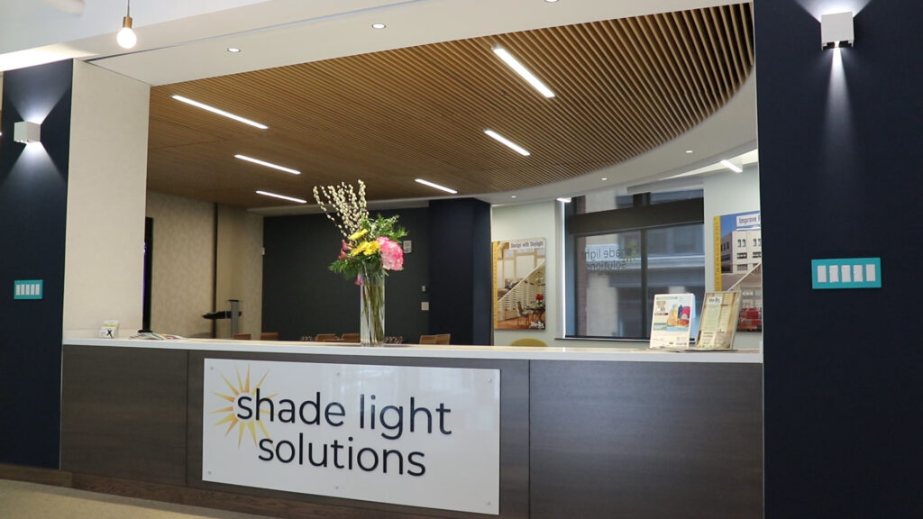 shade light solutions entrance sign