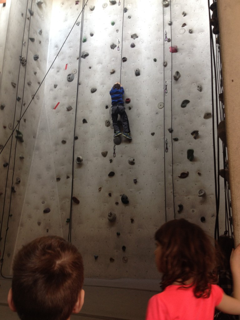 Even our kids got into rock climbing