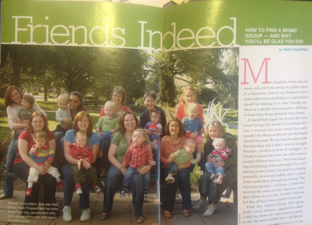 Our Mom's Group story in Today's Parent