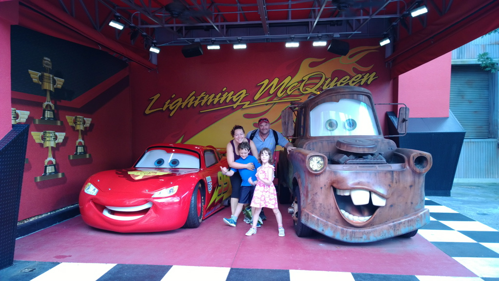 survive Disney with special needs, Nothing is more special than meeting some of your favorite characters - Found Lightning McQueen at Disney Studios