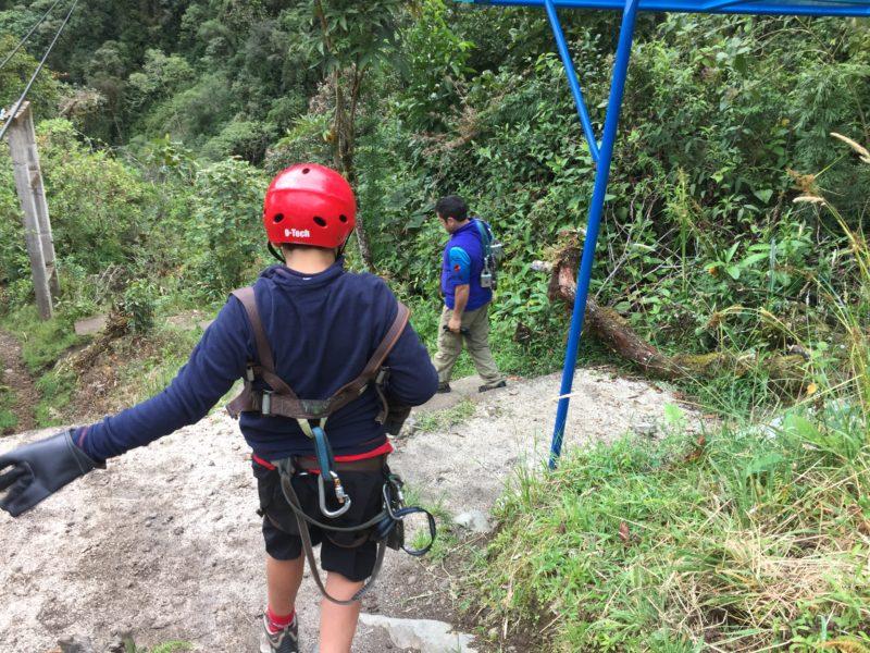 Ziplining in Banos Ecuador
