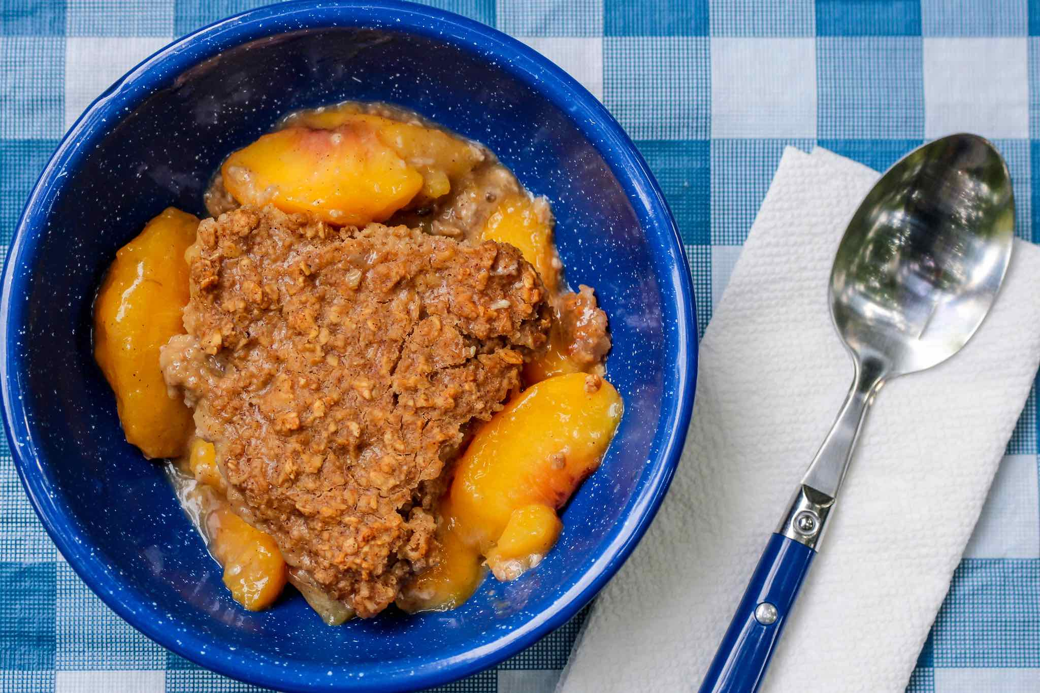 peach baked oatmeal
