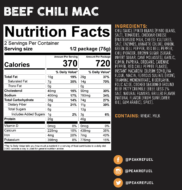 beef chili mac nutrition facts