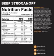 beef stroganoff nutrition facts
