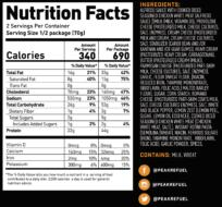 chicken alfredo pasta nutrition facts