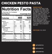chicken pesto pasta nutrition facts