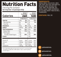 strawberry granola nutrition facts