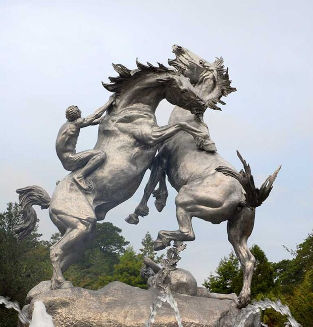 Fighting Stallions at Brookgreen Gardens