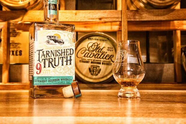 Bottle of Tarnished Truth Bourbon Whiskey