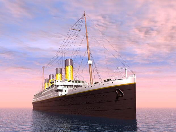 Rendering of the Titanic ship
