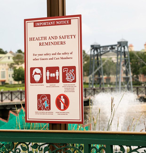 New Health and Safety Reminders at Disney Springs