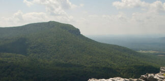 View of Moore's Knob, Hanging Rock State Park