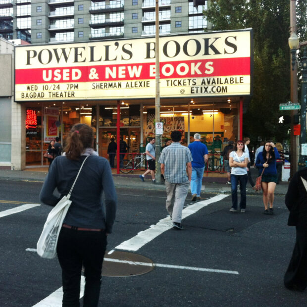 Exterior of Powell Books