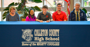 """I could not be happier to become a Wolf at Newberry College. This is a once in a lifetime opportunity and I intend to work hard to be the best student-athlete I can be. I will never forget my time here at Colleton County High School, and I intend to make Colleton County Proud! Go Cougars and Go Wolves!"" – Shelton Reynolds, on his future as a college athlete. Photo by Cindy Crosby"