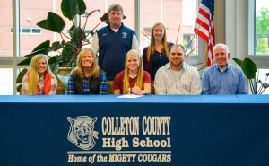 """I am thankful for the support of my friends and family; without them – I wouldn't be where I am today. I also thank God for the ability and the blessings which he has given me."" – Taylor Montjoy, Colleton County High School Lady Cougar Soccer player, on inking a scholarship to play at USC – Salkehatchie. Photo by Cindy Crosby"