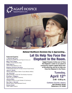 Flier-National-Healthcare-Decisions-Day-Face-the-Elephant-Walterboro 1