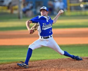 Senior, Joshua Craven, allowed just one run in four innings of relief. Craven signed a scholarship earlier today to play for USC - Salkehatchie next year. Photo by Jim Killian