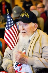 Lewis Lee, at 97-years-old, is believed to be only one-of-eight remaining survivors in South Carolina and one of 300 across the United States. Photo by Cindy Crosby