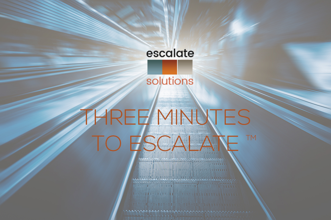 Escalator Three Minutes with ES Logo