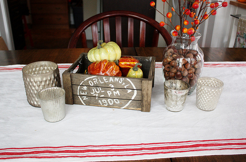 Autumn Dining Room Table with Tea Towel Runner