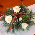 how-to-make-holiday-arrangement-faux-real-greenery-white-roses