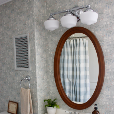 Updating Bathroom Lights with Home Depot