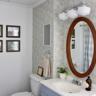 Farmhouse Bathroom Reveal {One Room Challenge Week 6}
