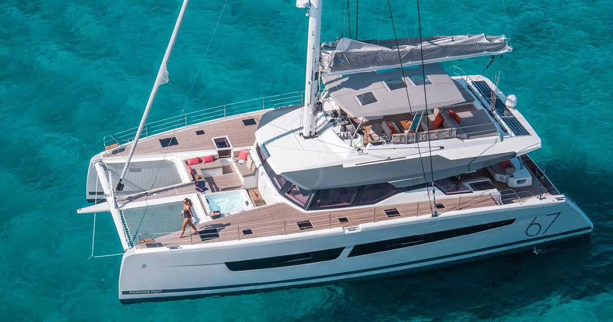 Fountaine Pajot Alegria 67 - NUMBER ONE crewed catamaran in Greece