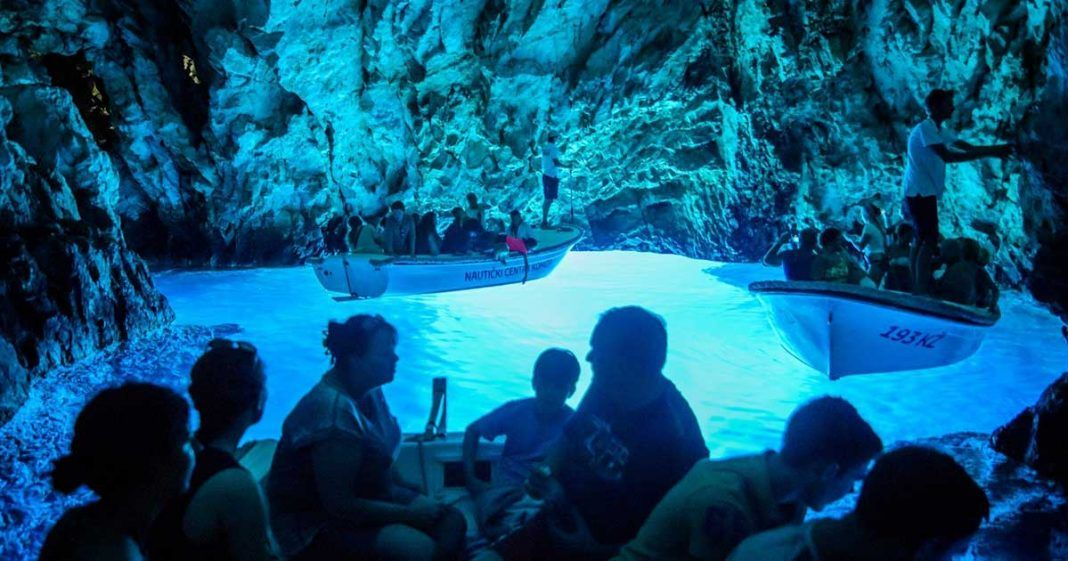 Blue Cave on island of Bisevo near island of Vis