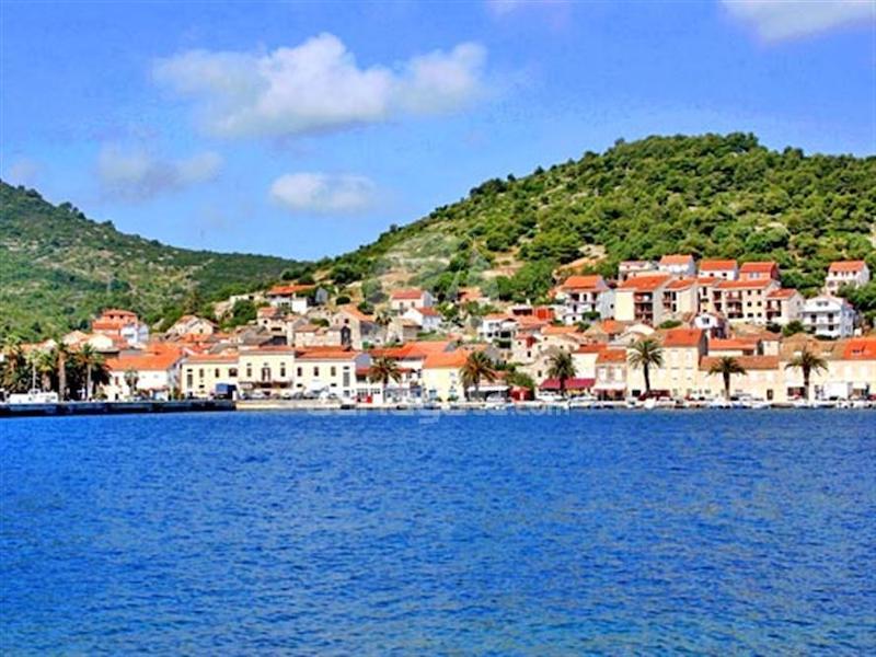 Town Komiza on island of Vis