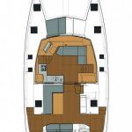 Fountaine Pajot catamaran Lucia 40 for charter in Croatia and Greece