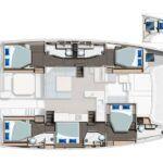 Leopard 50 Catamaran Charter Croatia Layout