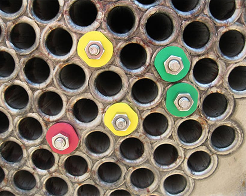 tube markers for condensers