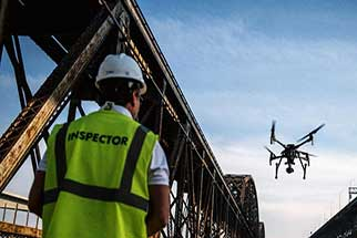Railroad uses drones for inspections