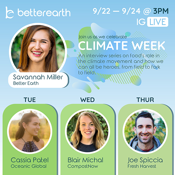 Looking Back on Better Earth Climate Week