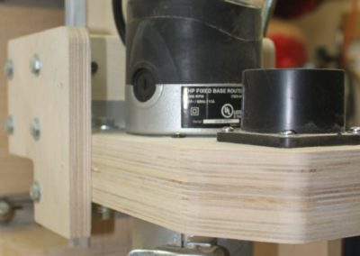 HobbyCNC Customer Build - Router mounting and dust port bottom view