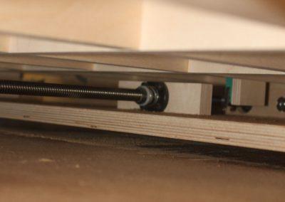 HobbyCNC Customer Build - X Axis drive screw and antibacklash nut acme